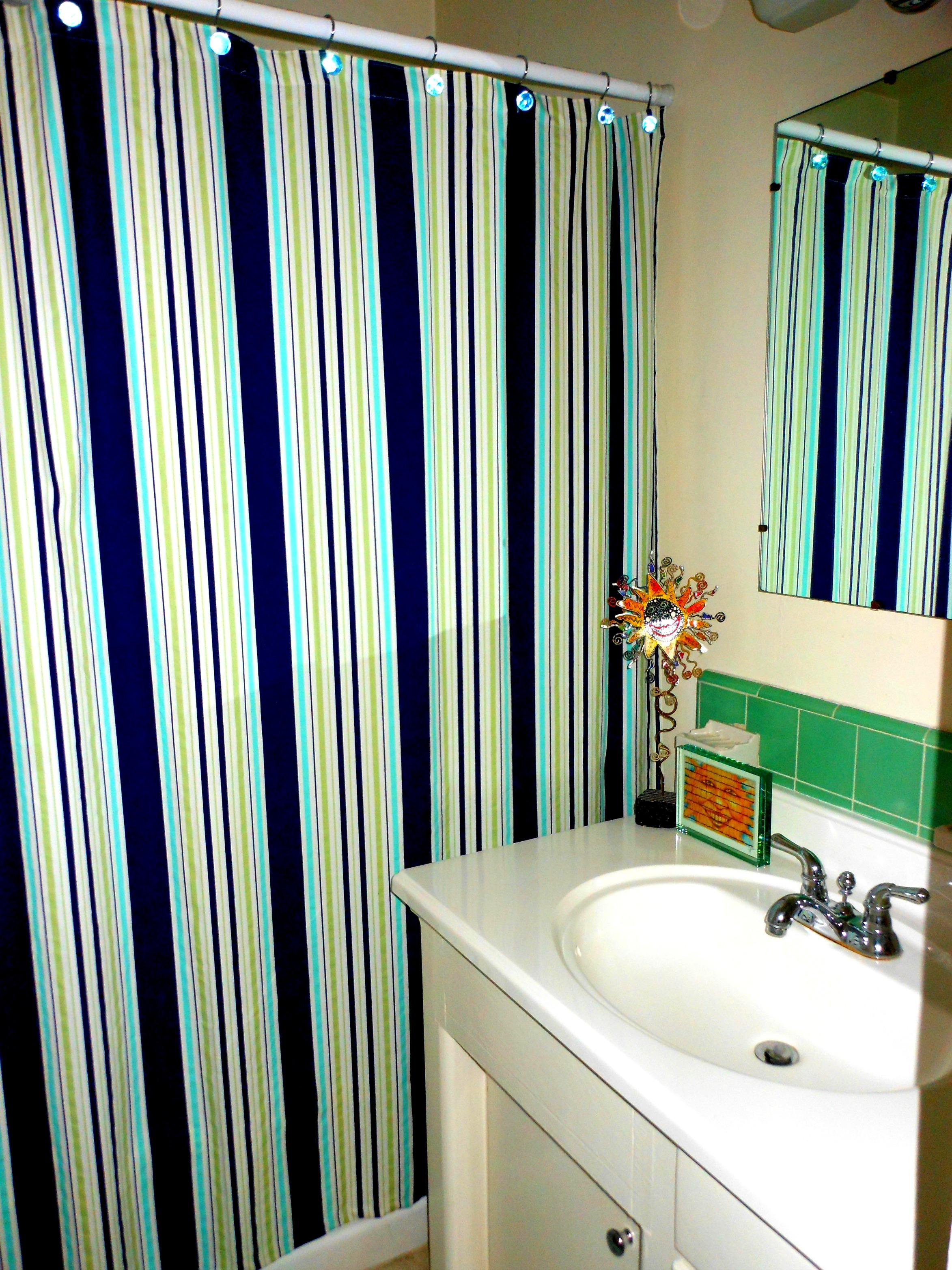 A Perfectly Nautical Shower Curtain U2026